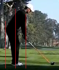 Figure 2.  Perfect spine angle – Driver