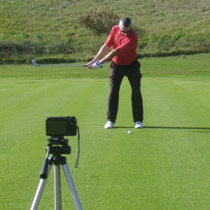 Recording your golf swing face on line view