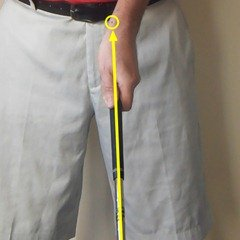 Figure 3.  Taking your golf grip - alignment of the left hand