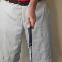 Figure 6.  The completed left hand grip (from above)