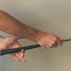 Figure 4.  Taking your golf grip - wrapping the left hand around the club