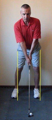 Figure 3. Hips have shifted about 1 golf ball right