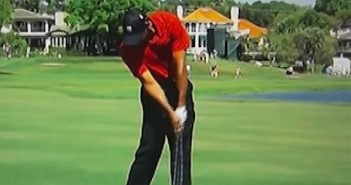 Tiger woods golf swing face on