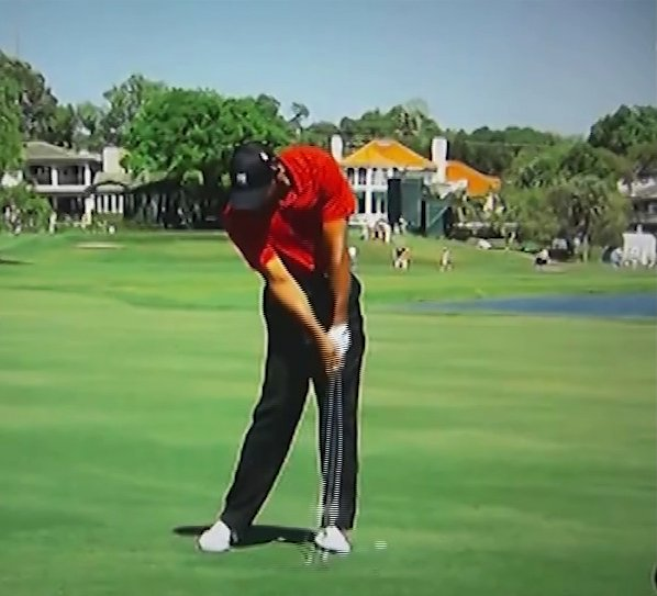 Tiger woods golf swing 2013