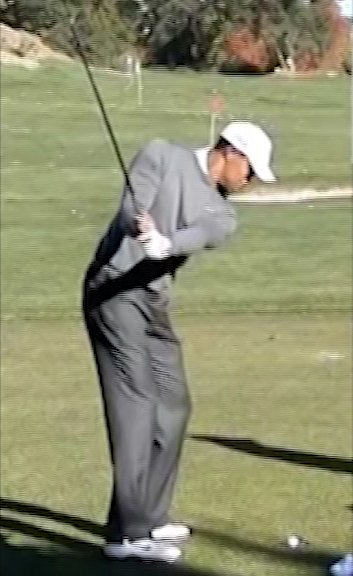 Tiger Woods Golf Swing Video 2011 Down The Line View 300fps Slow Motion Iron Draw
