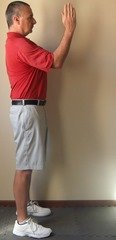 Figure 2 - Right arm position at the top of the backswing – down the line view