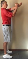 Figure 5 - Perfect arm position at the top of the backswing – down the line view