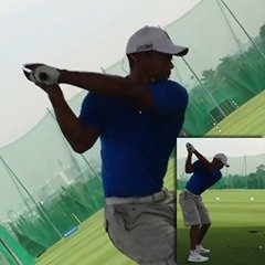 Figure 7 - Tiger Woods arm position at the top of the backswing – Driver
