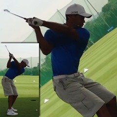 Figure 6 - Tiger Woods arm position at the top of the backswing – 4 Iron