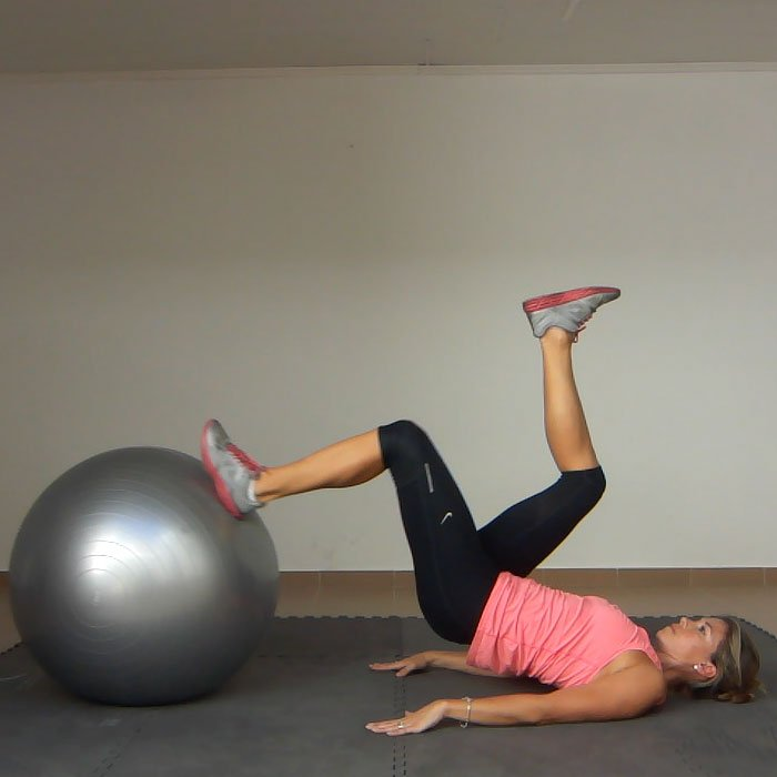 Stability Ball Hamstring Curl T Nation: Leg Curl On An Exercise Ball (2 Legs Up, 1 Leg Down