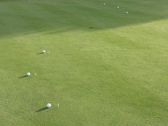 Setup for the Short Putt Touch game