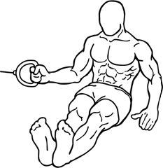 Shoulder external rotation with cable