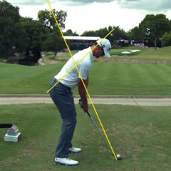 Adam Scott at address – swing plane and axis of rotation