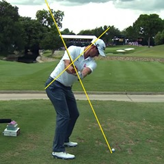 Adam Scott's backswing – swing plane and axis of rotation