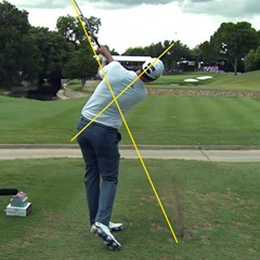 Adam Scott's follow-through – identical swing plane and axis of rotation
