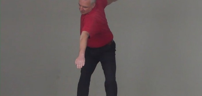 Golf Swing Transition Moving Two Directions at Once