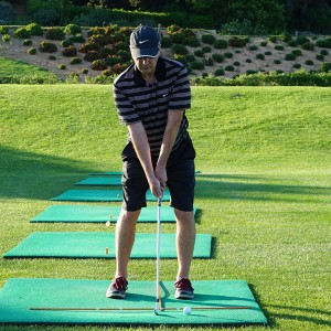 Golf Swing Drill: Develop Great Ball Striking Playing Off Mats - Setup