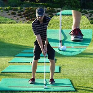 Golf Swing Drill: Develop Great Ball Striking Playing Off Mats - Setup 2
